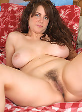 hairy mature, Cute as a button MILF with nice tits and a furry pussy