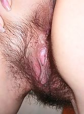 hairy nude women, Cherry spreads her hairy ass cheeks
