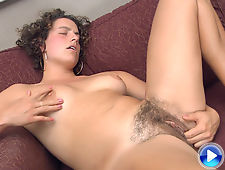 Hairy Saige would rather bush her own buttons