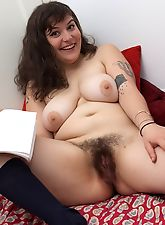 Esther spreads her hairy cheeks