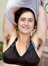 Hairy girl Valerie gets wet and wild